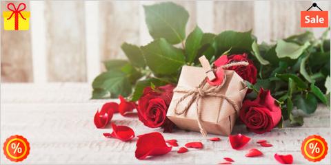 Скидки в магазинах подарков и цветов