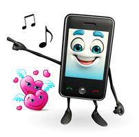 Отправить свою песню о любви на телефон