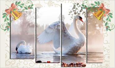Модульные картины с лебедями